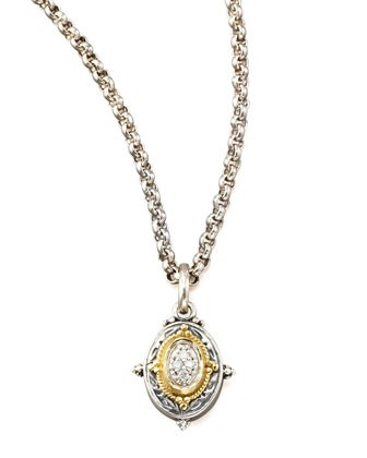 Pave Diamond Pendant Necklace - Konstantino