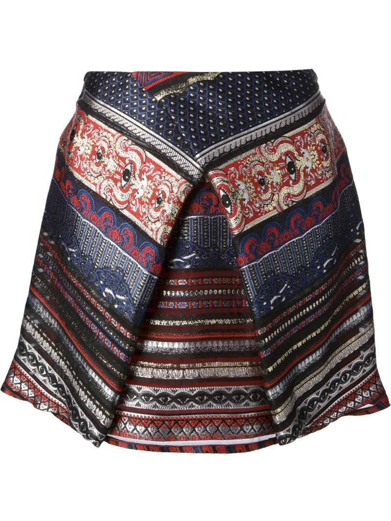 KENZO embroidered eye mini skirt