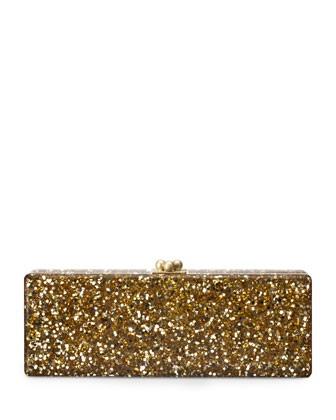 Flavia Confetti Acrylic Clutch Bag, Gold - Edie Parker