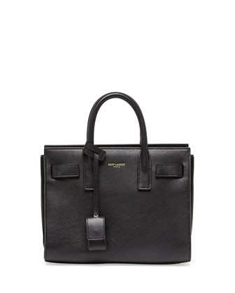 Sac de Jour Mini Crossbody Bag, Black - Saint Laurent