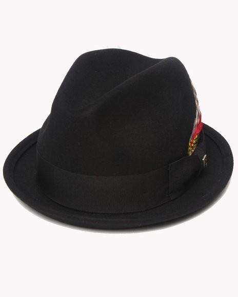 Brixton Men Black Gain Fedora Hat