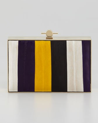 Karlie Eel Book Box Clutch Bag, Gold/Violet - Jason Wu