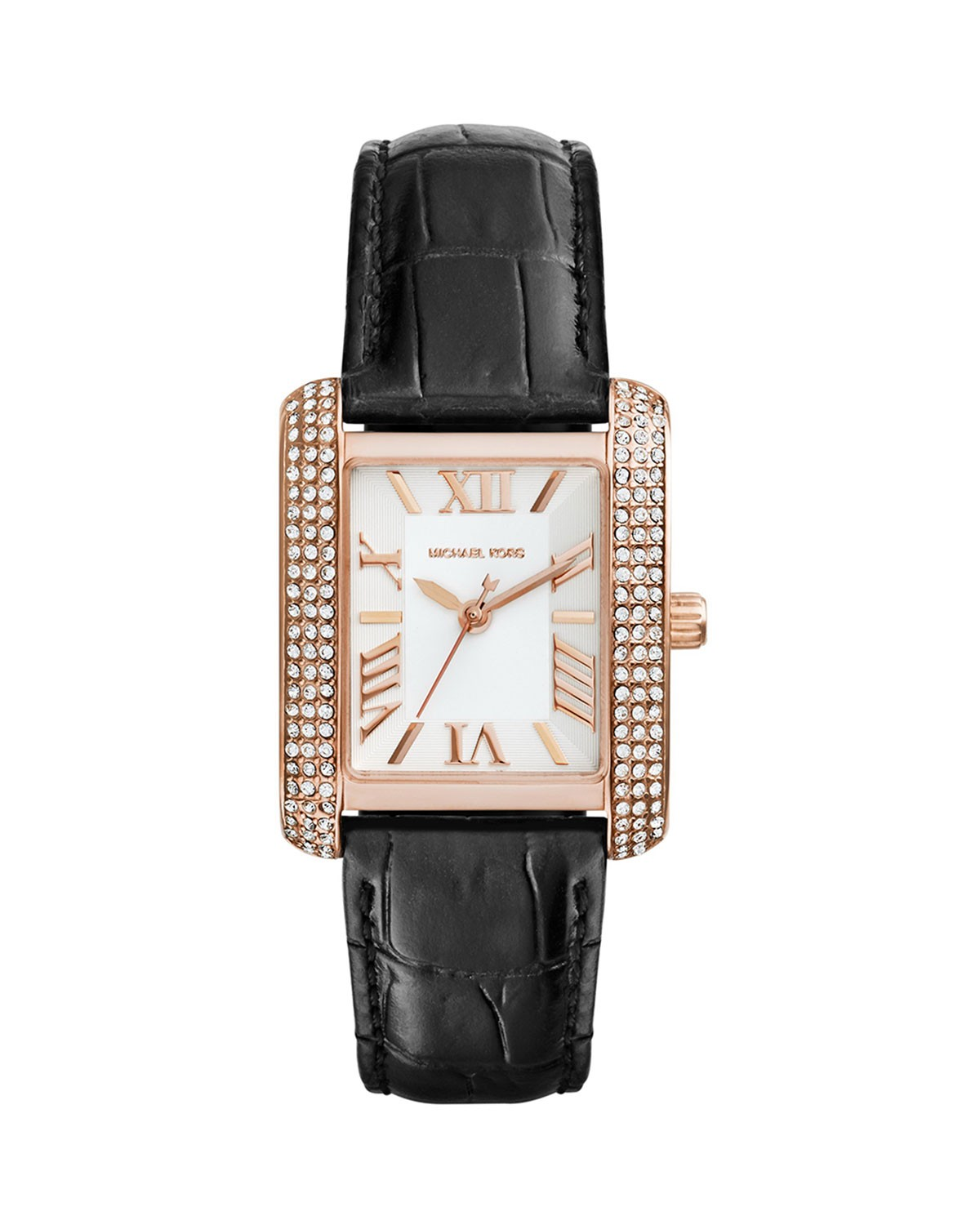 Mini Rose Golden/Black Emery Glitz Watch - Michael Kors - Rose gold