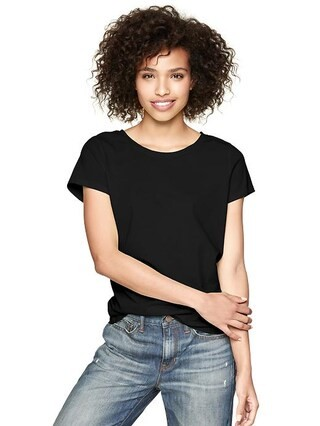 Gap Essential Short Sleeve T - true black knit