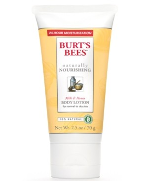 Burt's Bees Milk & Honey Body Lotion, 2.5 fl. Oz.