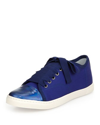 Nylon Cap-Toe Low-Top Sneaker - Lanvin