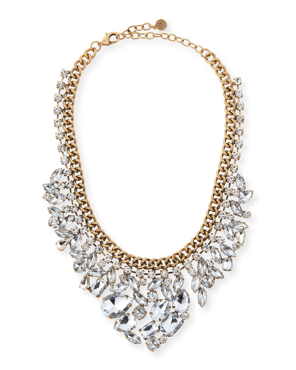 Crystal Statement Necklace, BRASS - R.J. Graziano