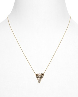 House of Harlow 1960 White-Tip Tooth Necklace, 16