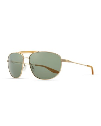 Libertine Aviator Sunglasses, Golden - Barton Perreira