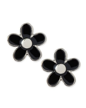 Daisy Stud Earrings, Black/Silvertone - MARC by Marc Jacobs