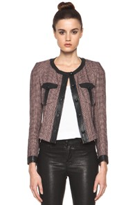 Isabel Marant Kacie Summer Tweed Jacket in Prints