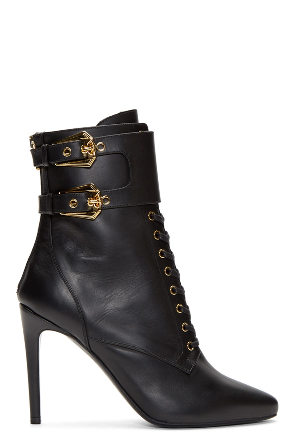 Balmain Black Leather Nina Ranger Boots