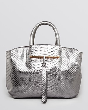 B Brian Atwood Tote - Gloria Small Python Embossed