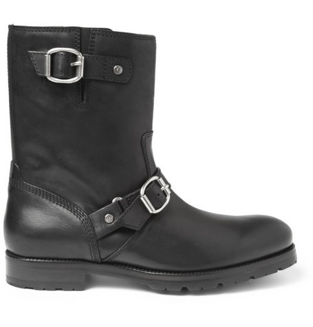 Stanford Leather Biker Boots