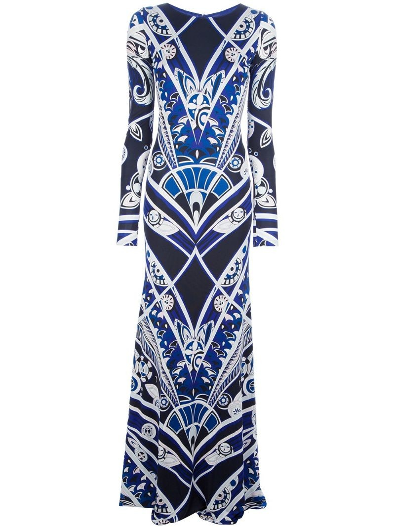 EMILIO PUCCI backless maxi dress