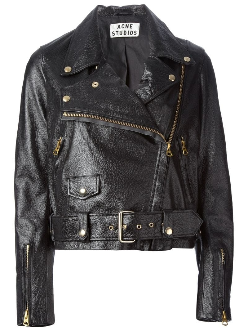 ACNE 'Merci' leather biker jacket