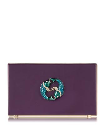 Pandora Pisces Zodiac Clutch, Purple - Charlotte Olympia
