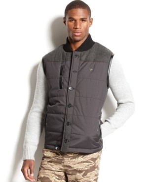 Lrg Big & Tall Vest, Rugged Maple Puffer Vest