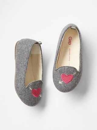 Gap Heart Wool Loafers Size 7 - Grey heather
