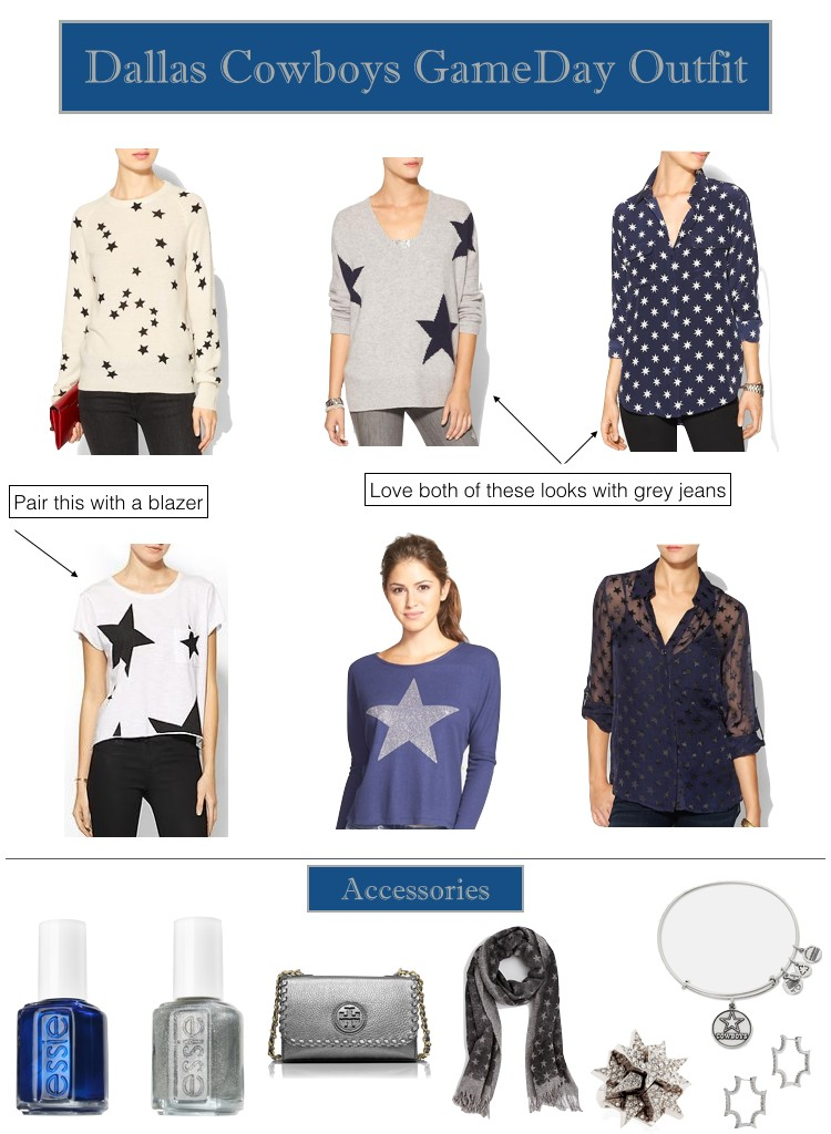 Dallas Cowboys Gameday Outfits, Star sweaters
