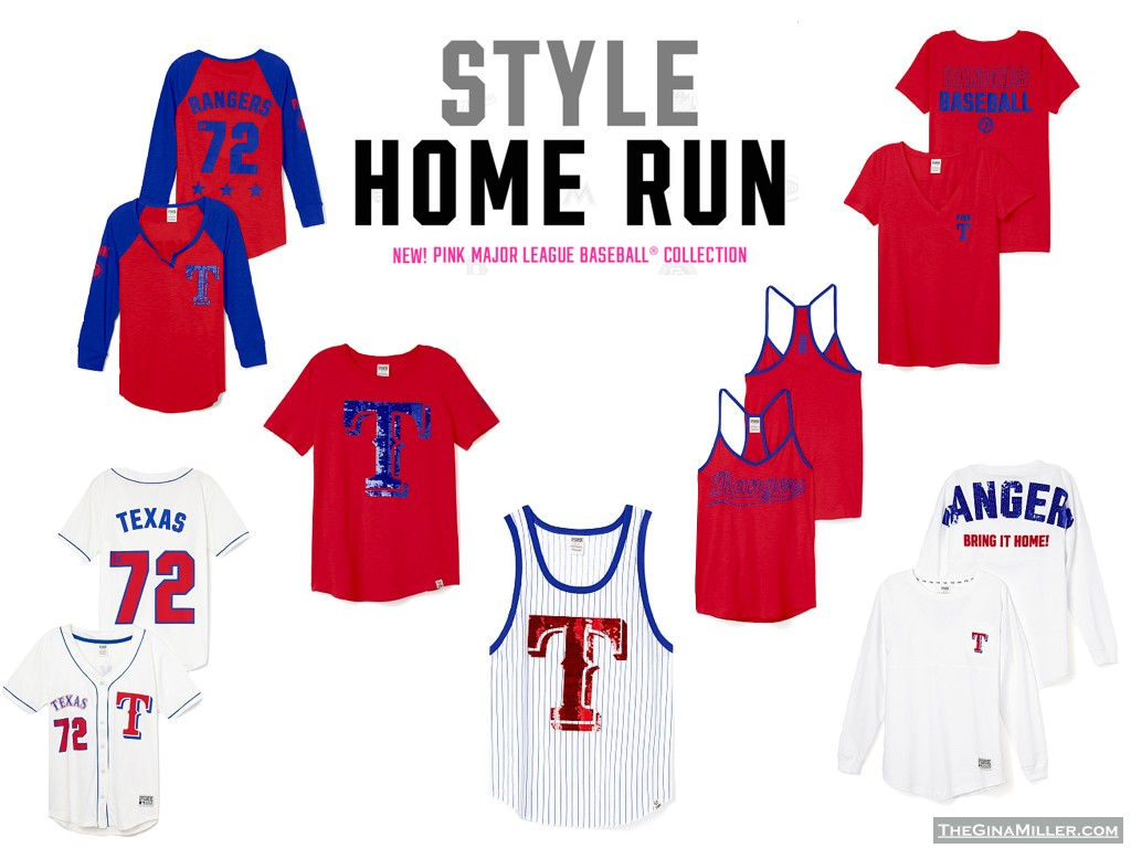 Texas Rangers, Victoria's Secret Pink Major League Baseball Collection