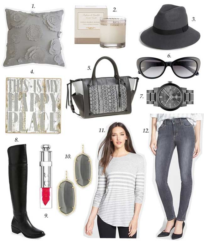 gray fall trend, vince camuto boots, vince sweater, burberry watch, kendra scott earrings,dior lipstick