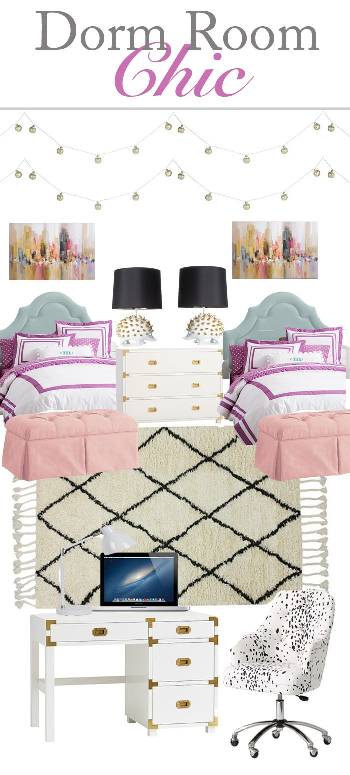 How to decorate your dorm room, dorm room decor, girly dorm room