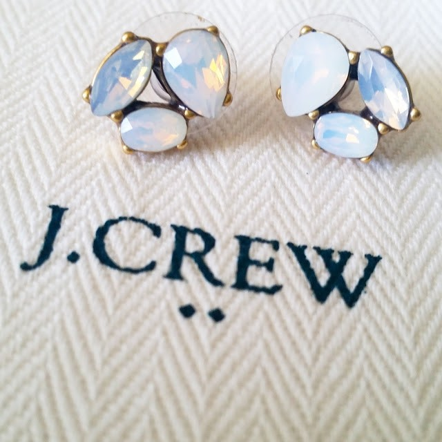 J.Crew Factory Crystal Trio Earrings on sale