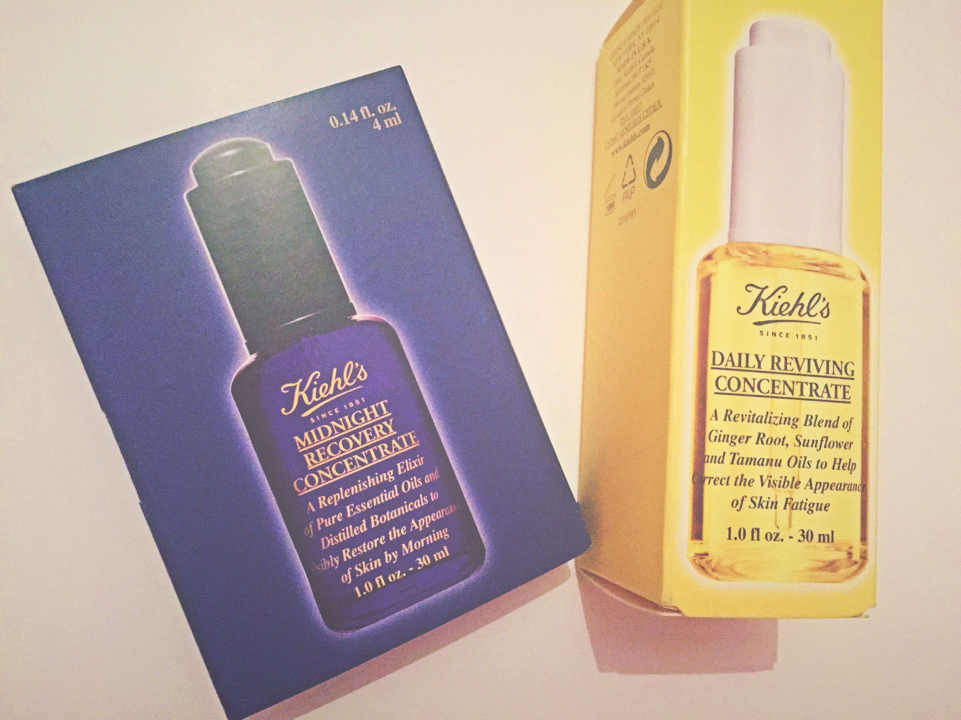 Kiehl's Daily Reviving Concentrate & Midnight Recovery Concentrate