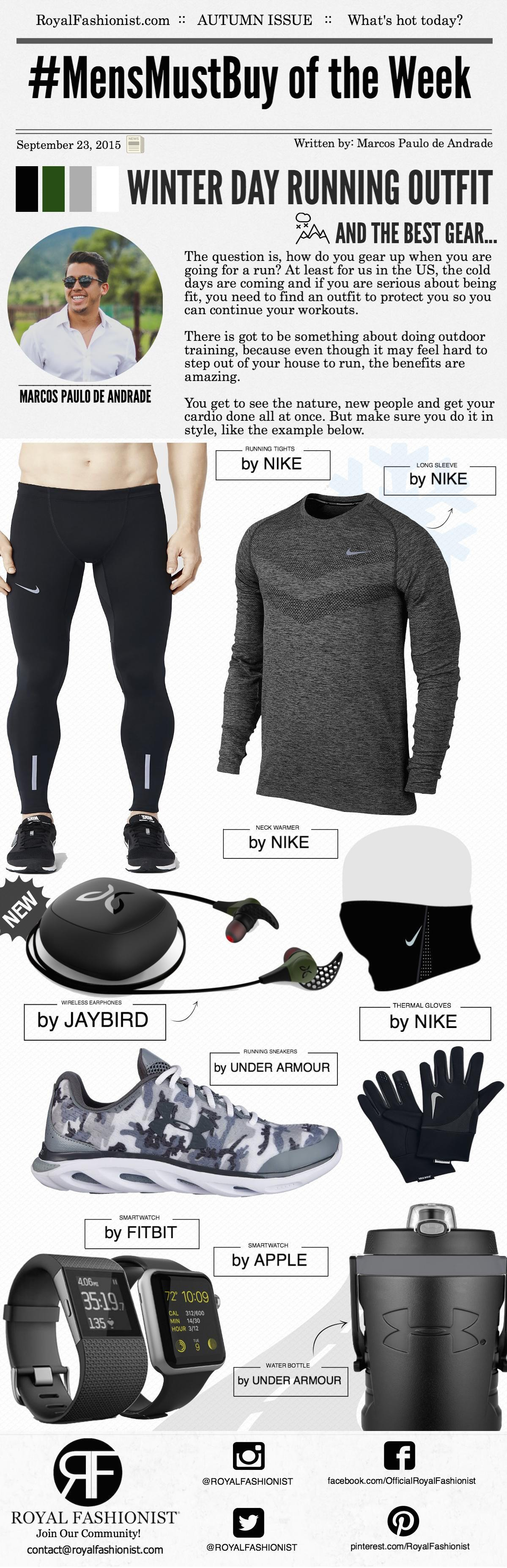 Men's Winter Day Running Outfit and The Best Wireless Earphone