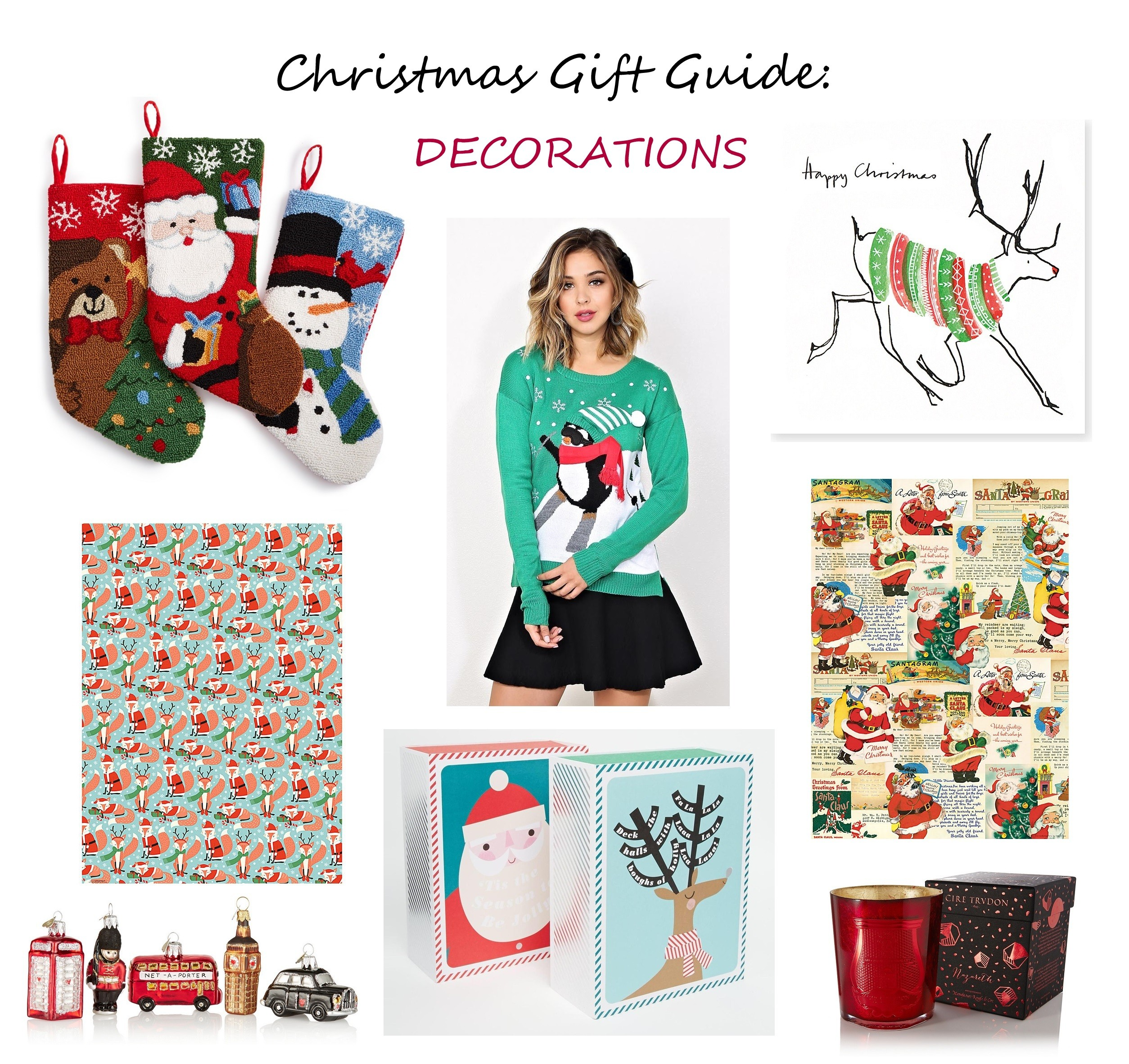 christmas gift guide for home decorations holiday cards gift wrapping papers