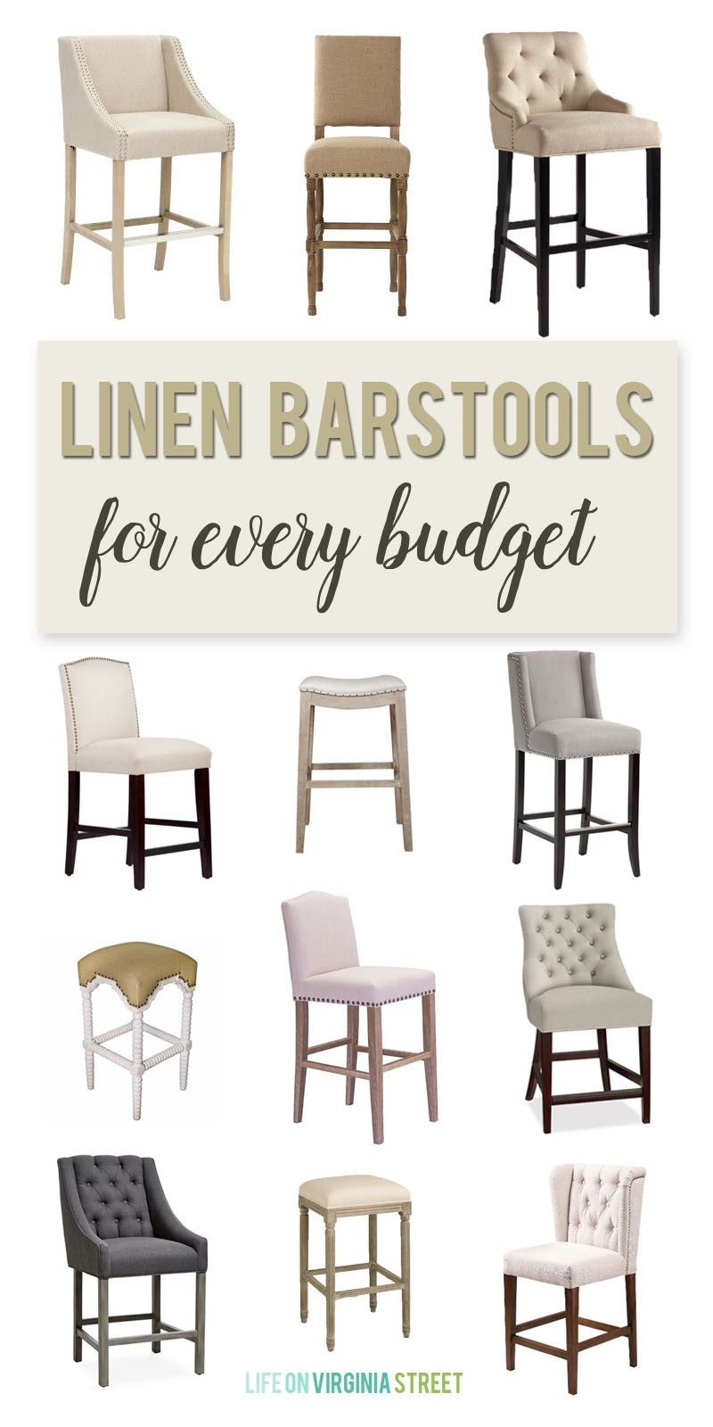 Linen Barstools For Every Budget Life On Virginia Street