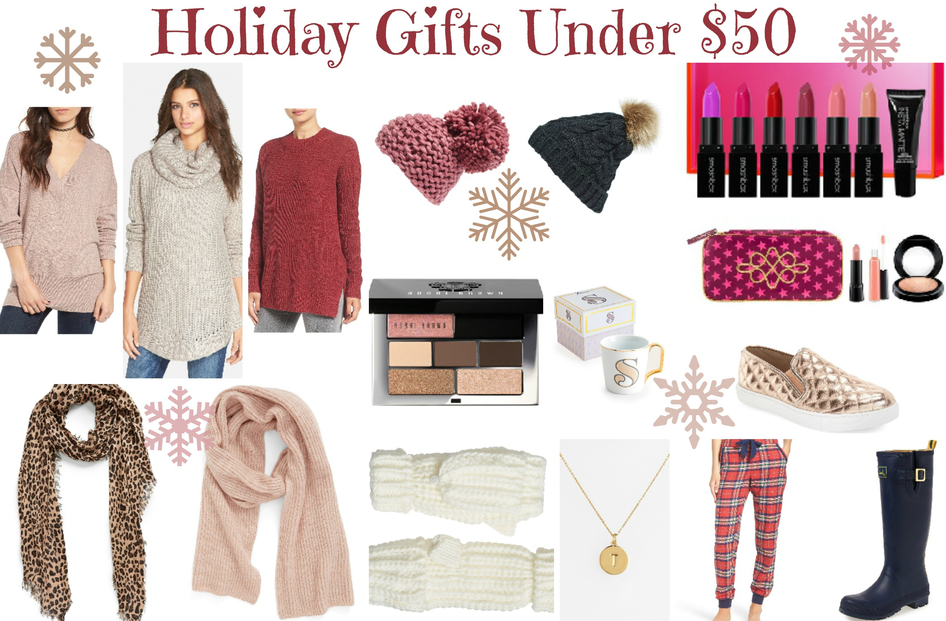 Womens Holiday GIfts under $50