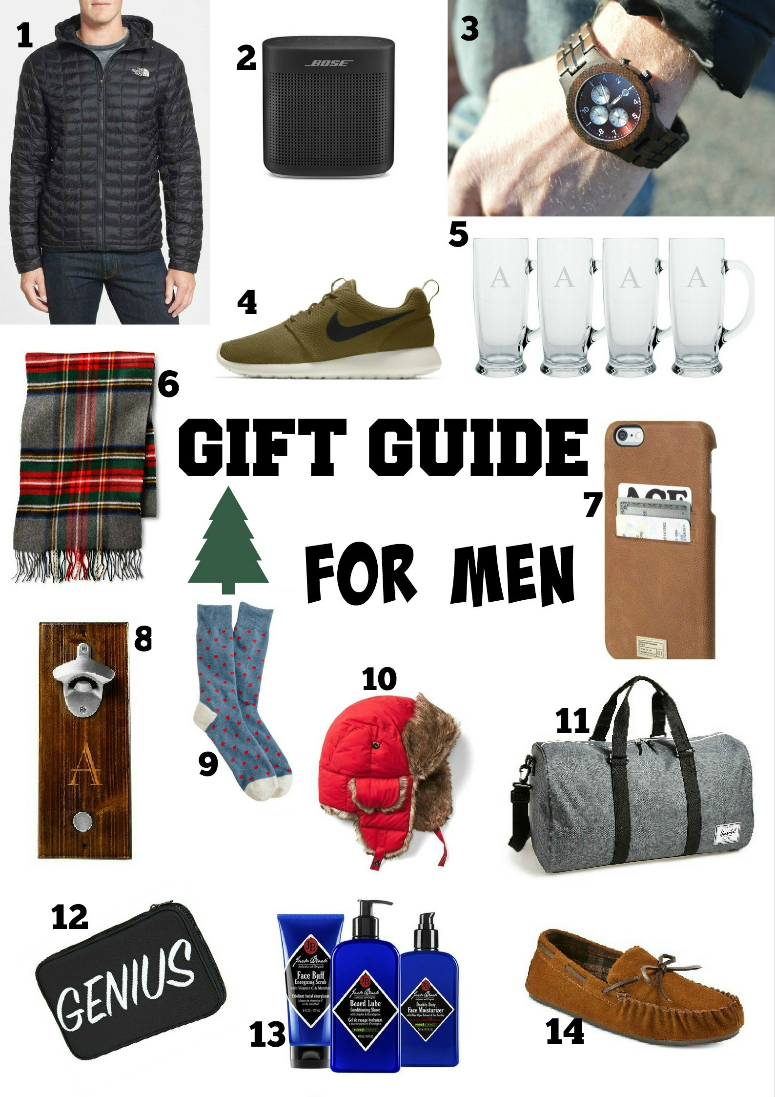 Gift Guide For Him by Boston fashion blogger Living Life Pretty