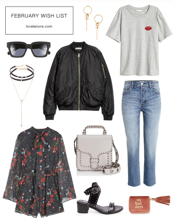 Love Lenore's February Wish List // Winter-to-Spring transitional pieces