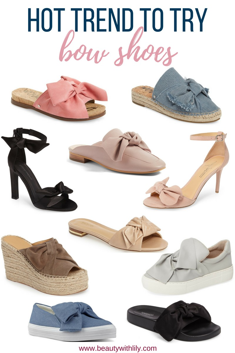 Stylish Bow Shoes // Affordable Bow Shoes // New Shoe Trends | beautywithlily.com