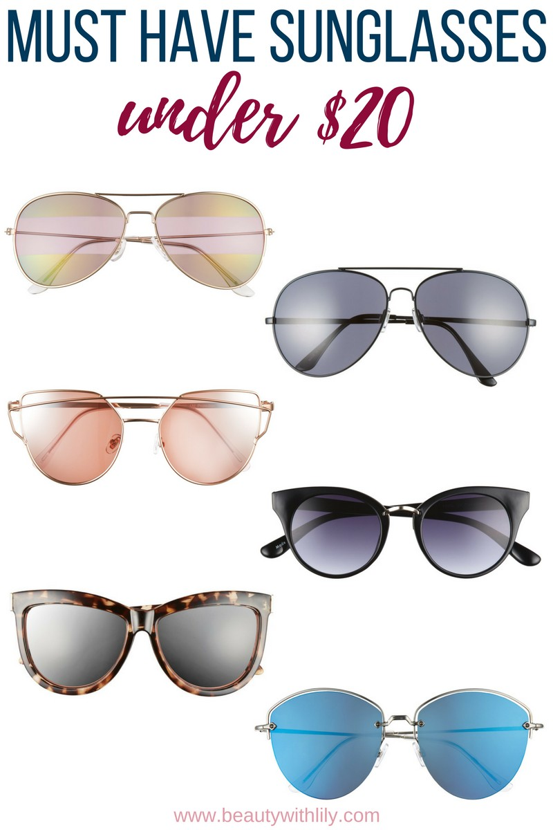 Affordable Trendy Sunglasses // Sunglasses Under $75 | beautywithlily.com