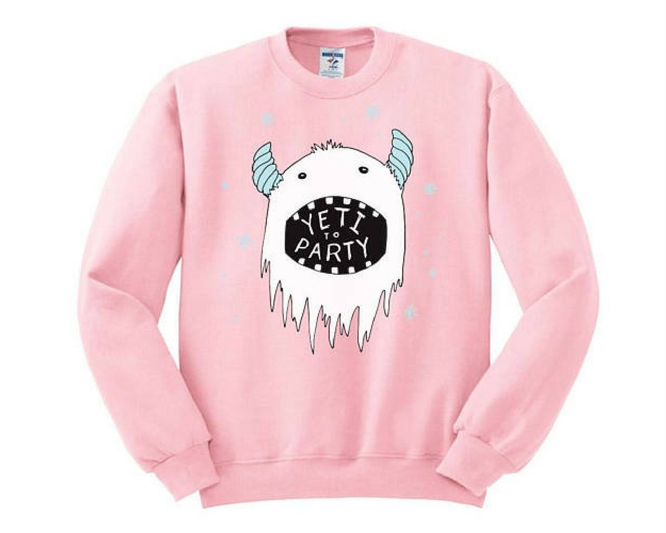 Cute Christmas Sweaters for Women 2017 - yeti to party sweater