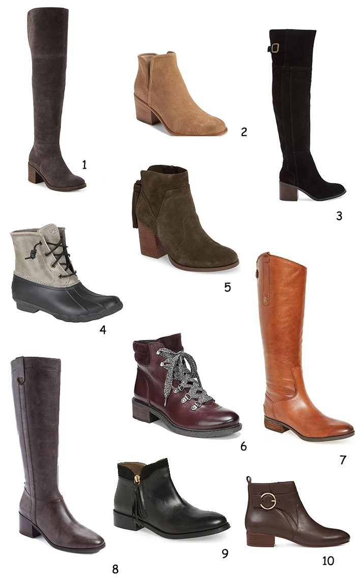 Boston Life & Style Blogger, The Northern Magnolia, has rounded up fall boots and booties all for under $150.