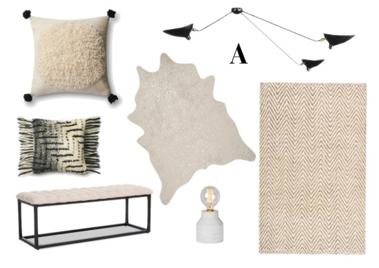 Mood board A for office decor update