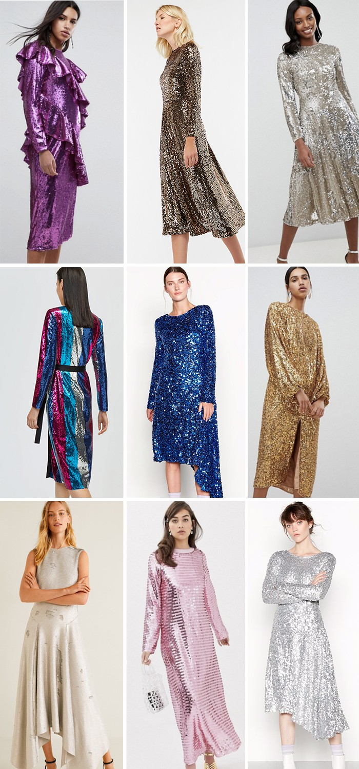 9 OF THE BEST HIGH STREET SEQUIN MIDI DRESSES