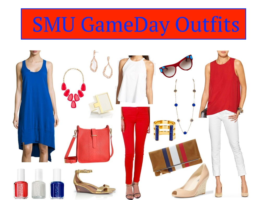 SMU GameDay Outfits, SMU Game Day Dresses