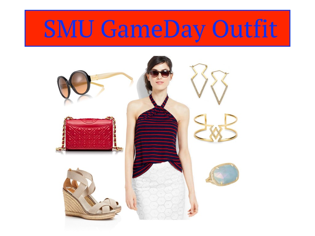smu gameday dress, smu game day outfit