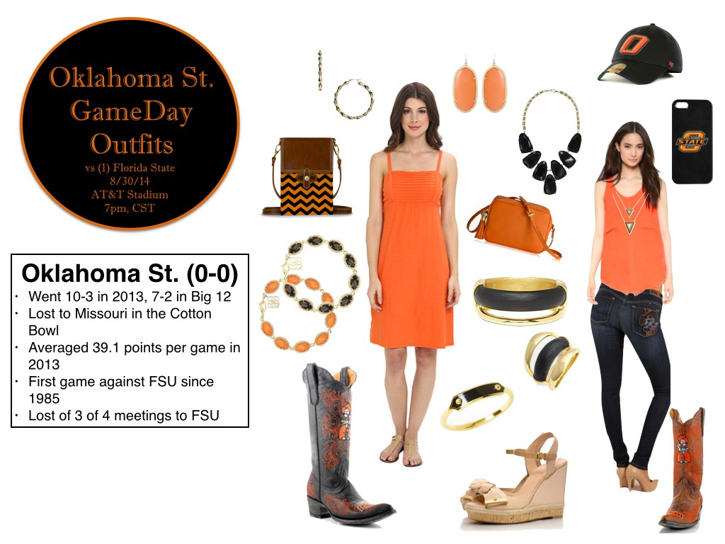 Oklahoma state gameday outfits, gameday dress