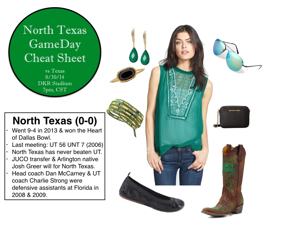 North Texas GameDay, North Texas GameDay Outfit