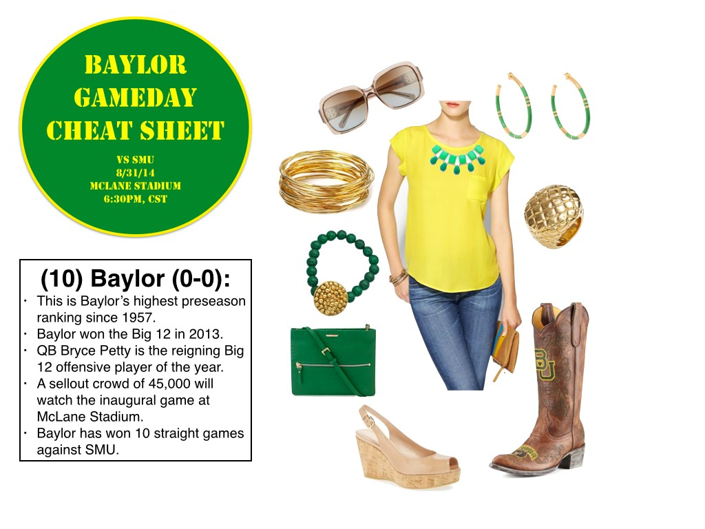 Baylor GameDay Outfit, Baylor GameDay Boots