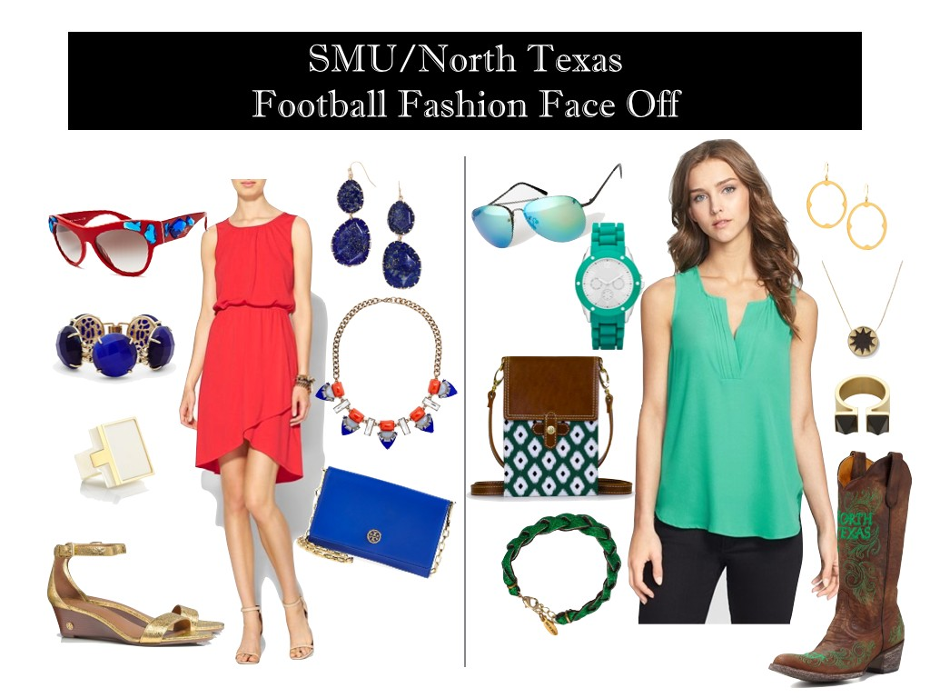 SMU GameDay Dress, North Texas GameDay Outfit, College GameDay Dresses