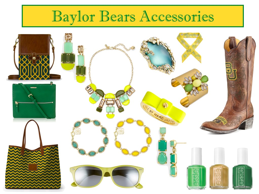 Baylor accessories, stylish Baylor accessories,