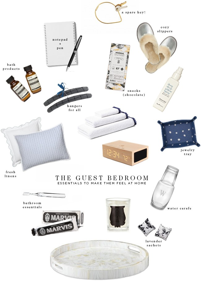 guest bedroom essentials to make them feel at home
