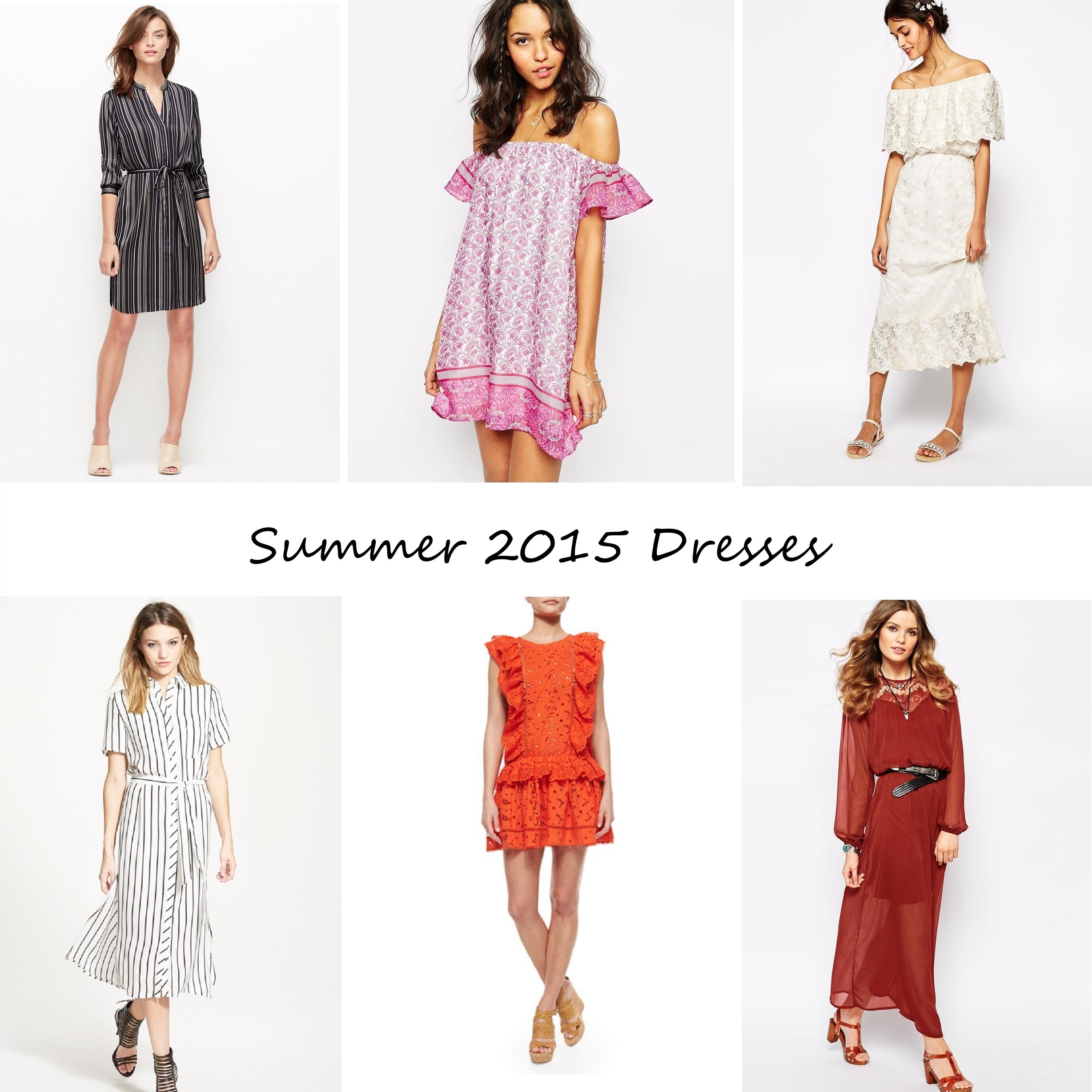 summer 2015 dress trend guide striped off shoulder white lace shirtdress